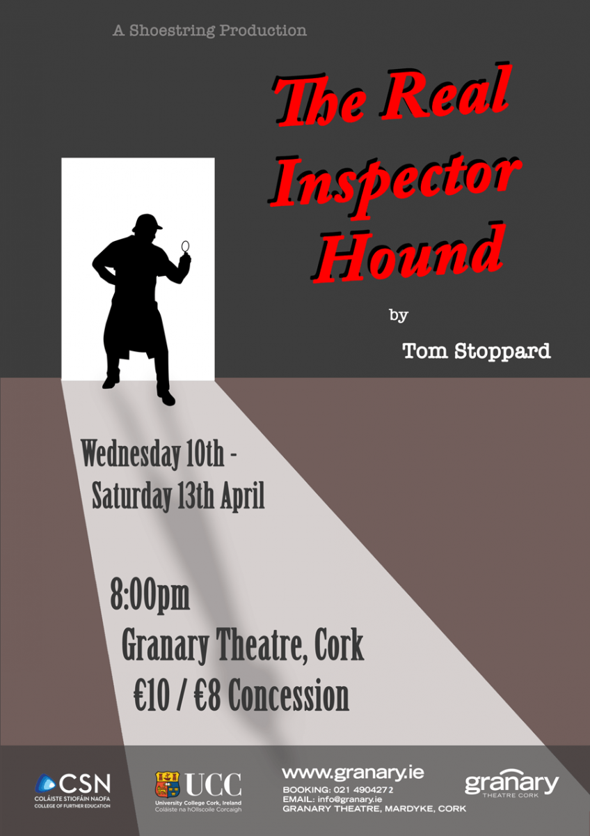Acting for Stage & Screen presents Tom Stoppard's The Real Inspector Hound at the Granary Theatre.