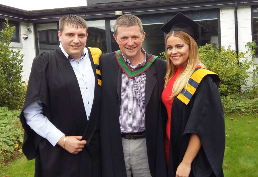 Olivia O'Leary (progressed to Commerce in UCC)  and Aaron Conlon (CIT) graduates of CSN Business Studies Year 2