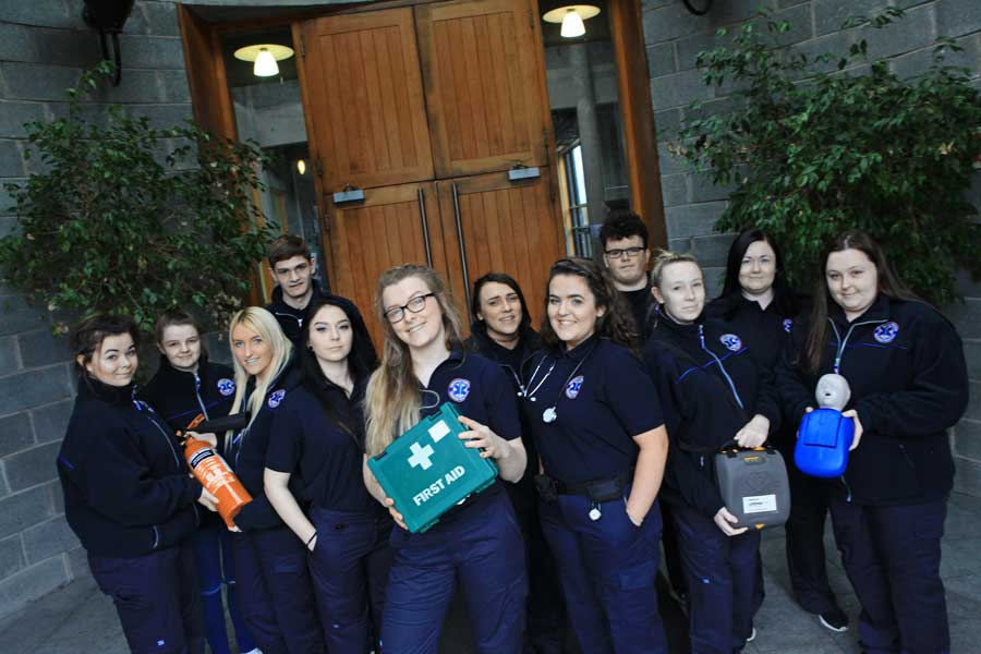 Emergency Services students
