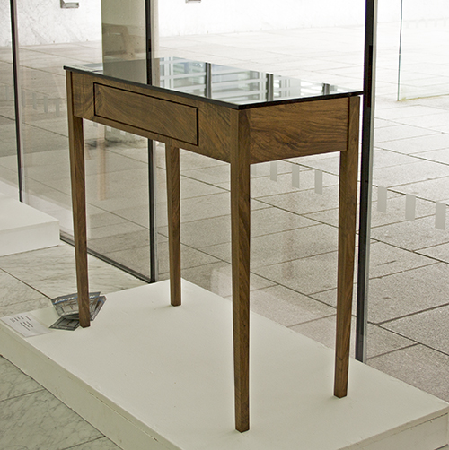 Console table by Emer Hurley on show at the 2016 Emerge exhibition as part of Cork Craft Month.