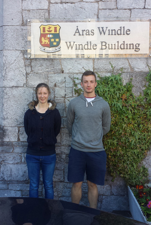 Aoife Landers and Eoin Sheehan, CSN Coaching and Physical Education graduates who progressed to UCC