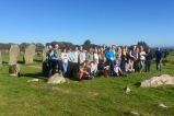 Cultural & Heritage Studies Students exploring Stone Circles in West Cork