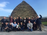 Cultural and Heritage Studies students at Gallarus oratory in West Kerry on their annual spring tour